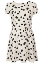 Polka dot dress at Topshop at Topshop