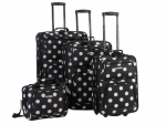 Polka dot luggage set at Amazon