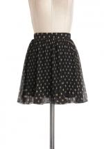 Polka dot mini skirt like Carries at Modcloth