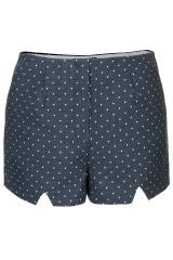 Polka dot notch shorts at Topshop
