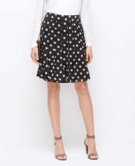Polka dot pleated skirt at Ann Taylor