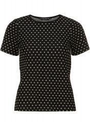 Polka dot ponte top at Dorothy Perkins