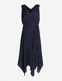 Polka dot-print fil-coupé maxi dress at Selfridges
