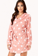 Polka dot robe at Forever 21