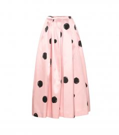 Polka-dot satin midi skirt at Mytheresa