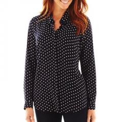 Polka dot shirt by Liz Claiborne at JC Penney