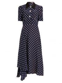 Polka dot silk dress at Matches