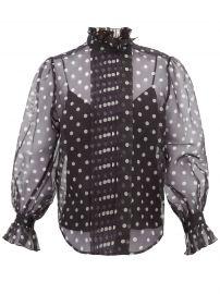 Polka-dot silk-organza blouse at Matches