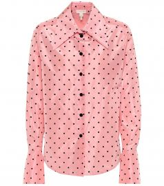 Polka-dot silk shirt at Mytheresa