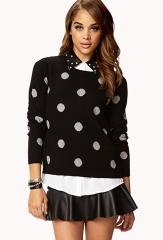 Polka dot sweater at Forever 21