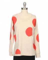 Polka dot sweater by Kokun at Ron Herman