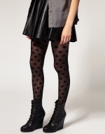 Polka dot tights at ASOS at Asos