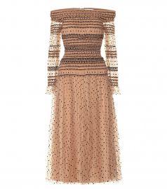 Polka-dot tulle dress at Mytheresa