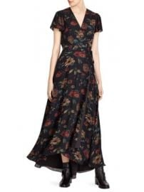 Polo Ralph Lauren - Camron Floral Wrap Silk Dress at Saks Fifth Avenue