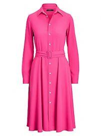 Polo Ralph Lauren - Long-Sleeve Belted Shirtdress at Saks Fifth Avenue