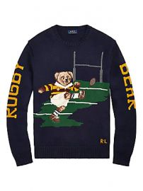 Polo Ralph Lauren - Regular-Fit Bear Lurex-Knit Sweater at Saks Fifth Avenue