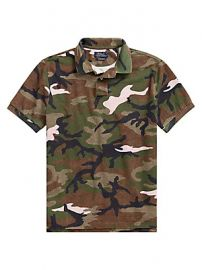 Polo Ralph Lauren - Slim-Fit Basic Mesh Camo Print Polo at Saks Fifth Avenue