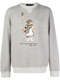 Polo Ralph Lauren Logo Bear Print Sweater - Farfetch at Farfetch