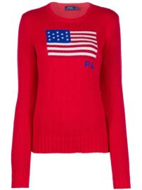 Polo Ralph Lauren Logo Flag Embroidered Sweater - Farfetch at Farfetch