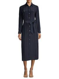 Polo Ralph Lauren Pinstripe Maxi Shirtdress at Saks Fifth Avenue