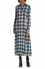 Polo Ralph Lauren Plaid Midi Shirtdress   Nordstrom at Nordstrom