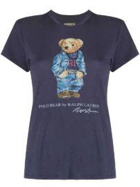 Polo Ralph Lauren Polo Bear-print cotton T-shirt Polo Bear-print cotton T-shirt at Farfetch