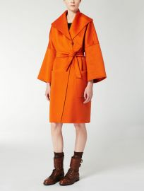Pomeo Orange Coat at Max Mara
