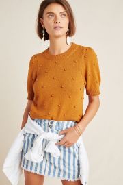 Pommed Sweater Top at Anthropologie