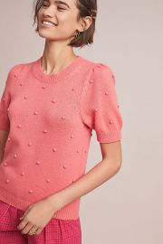 Pommed Sweater Top by Anthropologie at Anthropologie