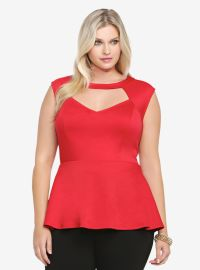 Ponte Peplum Top at Torrid