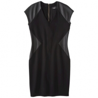 Ponte and faux leather dress by Mossimo at Target