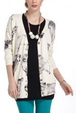 Pooch posse cardigan at Anthropologie