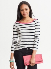 Pop Stripe Tee at Banana Republic