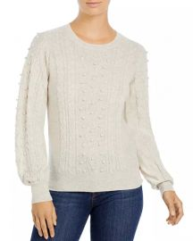 Popcorn Cable Cashmere Sweater at Bloomingdales