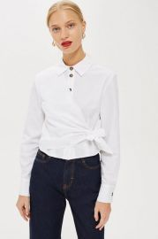 Poplin Wrap Shirt - New In Fashion - New In at Topshop