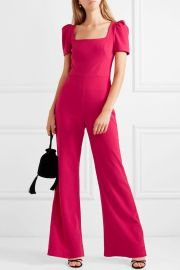 Poppy bow-detailed crepe jumpsuit at Net A Porter