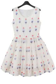 Popsicle pattern dress at Choies