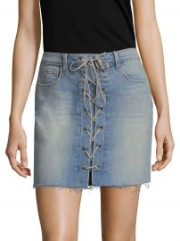 Portia Lace-Up Mini Skirt at Saks Fifth Avenue