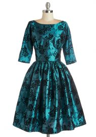 Posh at the Party Dress in Teal at ModCloth