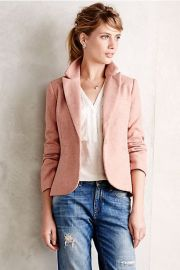 Posy Blazer in pink at Anthropologie