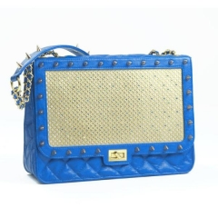 Poupee Couture Quilted Crystal Studded Shoulder Bag at Bottica