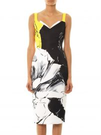 Prabal Gurun Classic Rose Print Fitted Dress at Matches