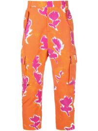 Prabal Gurung Floral Cargo Pants - Farfetch at Farfetch
