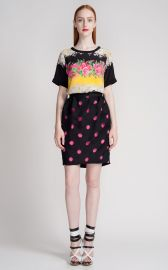 Prabal Gurung Laser Cut Polka Dot Skirt at Moda Operandi