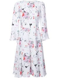 Prabal Gurung Pleated Skirt Floral Dress  1 595 - Buy AW17 Online - Fast Global Delivery  Price at Farfetch