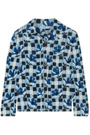 Prada   Printed crepe de chine shirt at Net A Porter