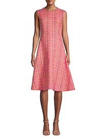 Prada - Tweed Boucle Sleeveless A-Line Dress at Saks Off 5th