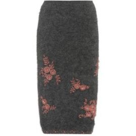 Prada Beaded Angora-Blend Skirt at My Theresa