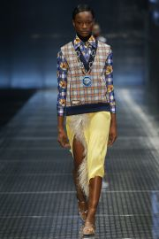 Prada Blue Printed Shirt at Vogue