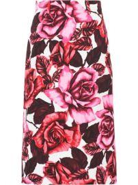Prada Floral Poplin Skirt  - Farfetch at Farfetch
